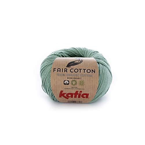 Katia Fair Cotton Fb. 17 - verde menta, Baumwollgarn, organische Baumwolle, Biobaumwolle zum Stricken und Häkeln -