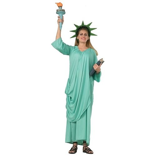 Kostüm Alufolie - Rubie's 216359 - Statue of Liberty, STD, hellblau