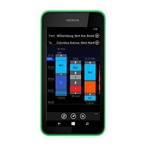 "Nokia - Lumia 530 Smartphone Movistar Entriegelt Windows Phone (Bildschirm 4 "", 5-Megapixel-Kamera, 4 GB, 1,2 GHz, 512 MB RAM), Grün"