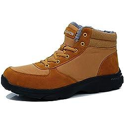 71df6b586e9d9 BIGU Botas de Nieve Hombre Botines Invierno Plano Botines Calentar Zapatos  Anti-Deslizante Deportes Al