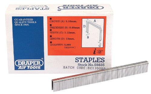 Draper 59835 Agrafes 13 mm Pack de 5000 (Import Grande Bretagne)