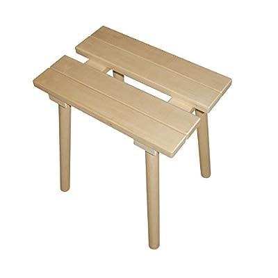 Hocker aus Holz für Sauna von Bain et Confort bei Du und dein Garten