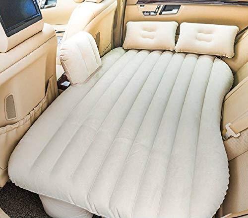 Tishnagi Designer Multifunctional Inflatable Car Bed Mattress with Two Air Pillows, Car Air Pump and Repair Kit (Multi Coloration) Image 2