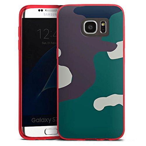 DeinDesign Slim Case kompatibel mit Samsung Galaxy S7 Edge Silikon Hülle Ultra Dünn Schutzhülle Camouflage Bundeswehr Tarn Muster