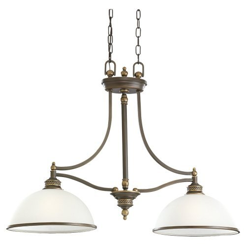 Sea Gull Lighting 66350708 2-Light Laurel Leaf Pendant by Sea Gull Lighting