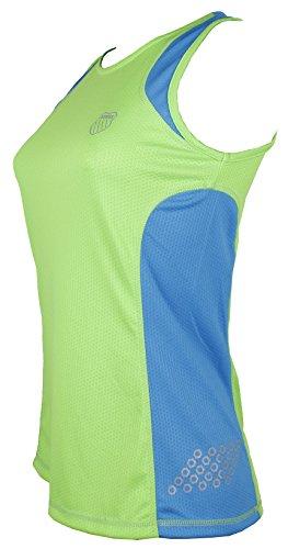 K-Swiss RA102.325.L - Camiseta para mujer, color verde neón / azul océano,...