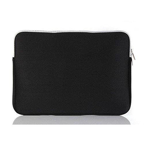 Notebooktasche 11 zoll , elecfan® 11 Zoll Laptophülle mit Griff für Macbook Air Retina und andere Laptops und Notebooks (Dell HP ASUS Lenovo Acer) weich Tragetasche Schutzhülle (11 zoll, Magenta) Schwarz