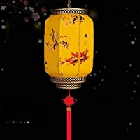 BBJOZ Lantern Chandelier Decorative Lantern Pumpkin Lanterns For Outdoor Waterproof Sunscreen Farmhouse Restaurant (Color : C)