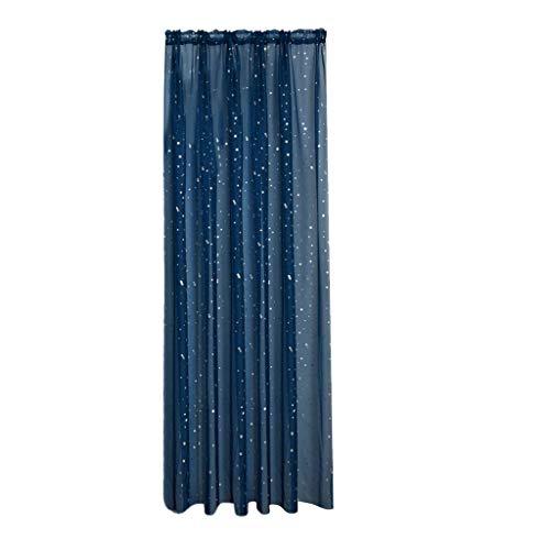 Marine-blau-schlafzimmer (Xmiral Türvorhang Tüll Stern Heiße Silberne Gardine Transparent Dekoration Gardine Für Kinderzimmer Wohnzimmer Schlafzimmer(Marine Blau,100cmx200cm))
