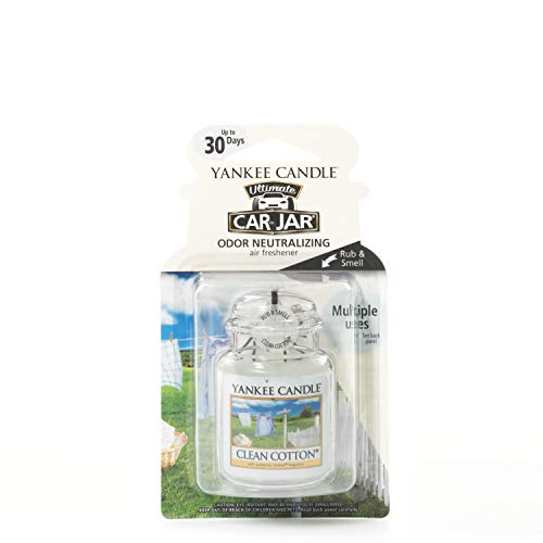 Yankee Candle 1220878E Deodoranti per Auto, Car Vaso Ultimate, Clean Cotto