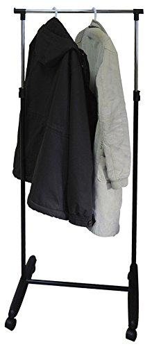 Protenrop Kleiderständer rollbar - höhenverstellbar, 61 x 43 x 110-160 cm (BxTxH), Metall/Kunststoff, mit 4 Rollen