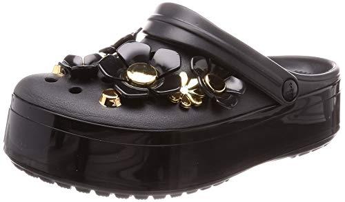 crocs Unisex-Erwachsene Cb Platform Metallicblooms U Clogs, Schwarz (Black 001), 41/42 EU