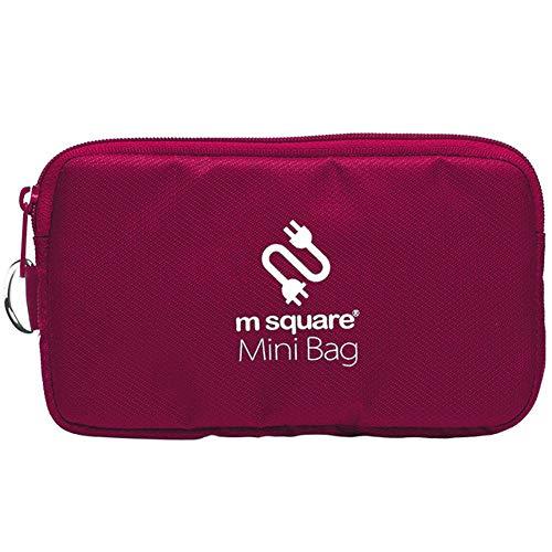 Mini-Digital-Zubehörtasche für Kabel-Organizer, Reise-Make-up-Handtasche, Aufbewahrungsbox für Headset/Mobile/Festplatte/Datenkabel Red Violet (Violetta Handtasche)