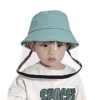 Kids Protective Face Shield Child Cap Anti Dust Anti Pollution Hat Reusable Protective Facial Dustproof Cover Boys Girls Cotton Sun Hat Bucket Hat,Blue