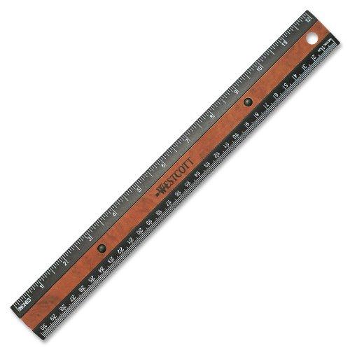 acme-faux-righello-30-cm-colore-nero-con-inserti-in-legno-acrilico-multicolore-3-pezzi
