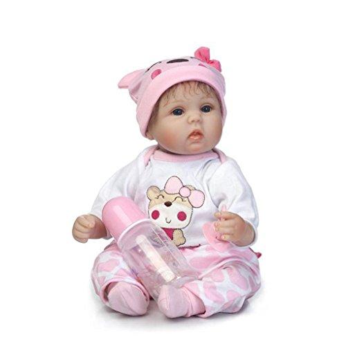 LCLrute Hot 40 CM Neue Ankunft Handgemachte Silikon vinyl adorable Lebensechte Kleinkind Reborn Baby mit 1 stück kleidung 1 Stück Nippel 1 Stück Hut 1 Stück Puppe 1 Stück Flasche