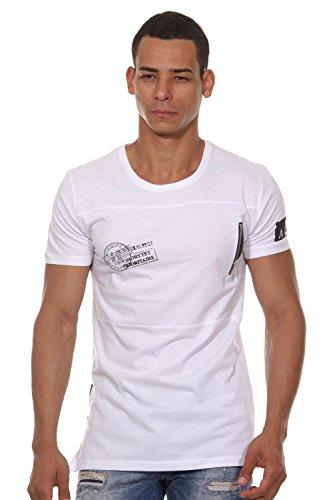 EX-PENT T-Shirt Rundhals slim fit Weiß