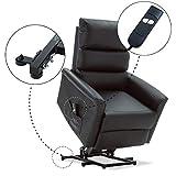MCombo Elektrisch Aufstehhilfe Fernsehsessel Relaxsessel elektrisch verstellbar (Schwarz) - 4