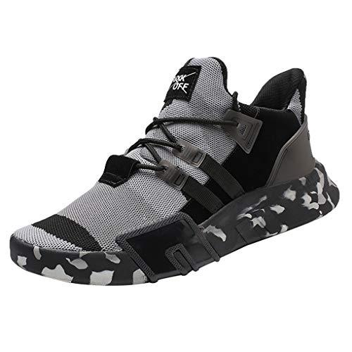 Dorical Laufschuhe Herren Sneakers Sportschuhe Joggingschuhe Turnschuhe Wanderschuhe Freizeitschuhe Air Casual Straßenlaufschuhe rutschfest Bequem Trainers Running Leichte Schuhe(Grau,39 EU)