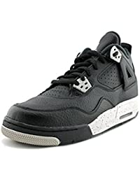50260e43a937 Jordan Air Jordan 4 Retro Youth UK 4 Black Basketball Shoe EU 36.5