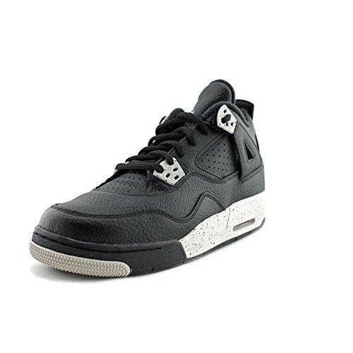 Jordan Air Jordan 4 Retro Jugend-Jungen Schwarz Leder 39 EUR Neu