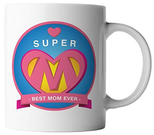 Ghostee tazza di caffè - super mom best mom ever - festa della mamma supereroe