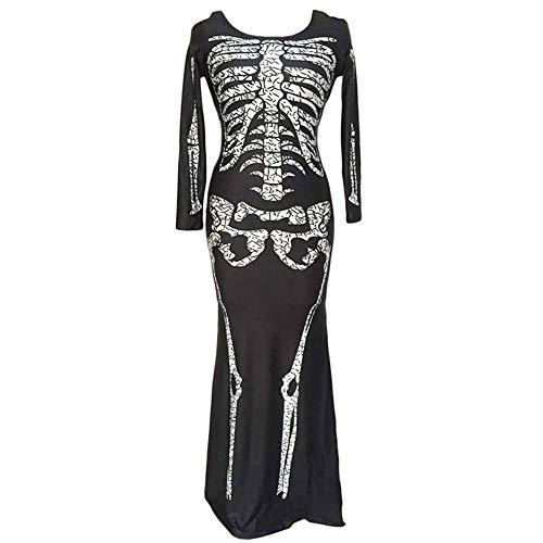 LBAFS Halloween Kostüm, Schädel Knochen Overall Party Leistung Cosplay Kostüm, Maskerade Requisiten Kleidung,M