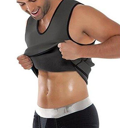 Panegy Chaleco de Compresión Camiseta Térmica de Neopreno para Hombre para Quemar Grasa Adelgazar Rápido - Gris - Talla 2XL