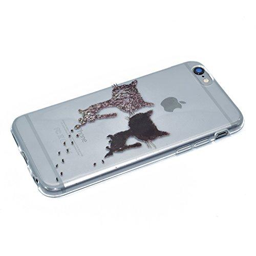 Apple iPhone 6/6S 4.7 Hülle, Voguecase Schutzhülle / Case / Cover / Hülle / TPU Gel Skin (Zwei katze) + Gratis Universal Eingabestift Zwei katze