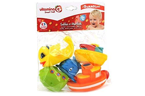 Globo Toys Globo–35826VITAMINA _ G GOMMOLOSI Fisch und Boote (5-teilig) (Munchkin Bath Bubble)