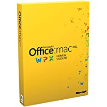 Microsoft Office for Mac Home & Student 2011 - Suites de programas (Intel, Mac, ITA, Mac OS X 10.5 Leopard, Mac OS X 10.6 Snow Leopard, Mac OS X 10.7 Lion, Mac OS X 10.8 Mountain Lion)