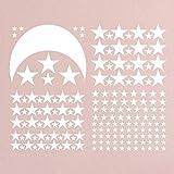 Gleecare Wandaufkleber Kinder Zimmer kreative Aufkleber aurous Schwarzer Mond Sterne Wandaufkleber selbstklebend Tapeten
