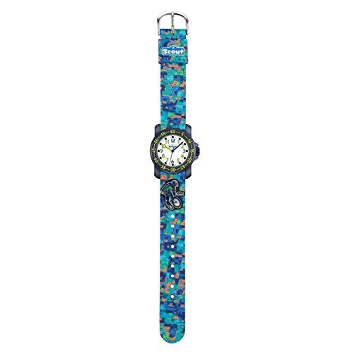 Scout Jungen Analog Quarz Uhr mit Textil Armband 280376034