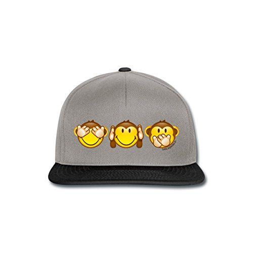 Spreadshirt Smiley World Three Mystic Apes Snapback Cap