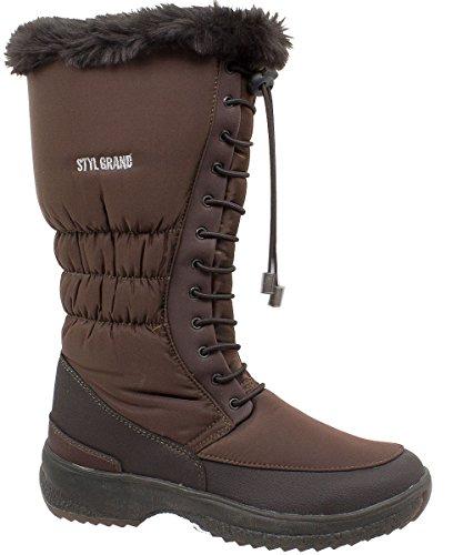 Styl Grand - 3205 - Bottes de neige Femme Marron