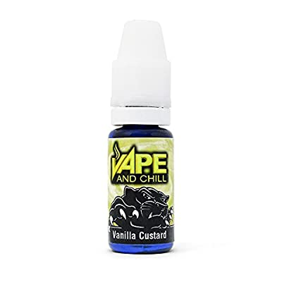 E Cigarette Liquid Vanilla Custard Non-Nicotine Vaping Juice by Vape and Chill 70-30 VG-PG (10ml Plastic Bottle) from Vape and Chill