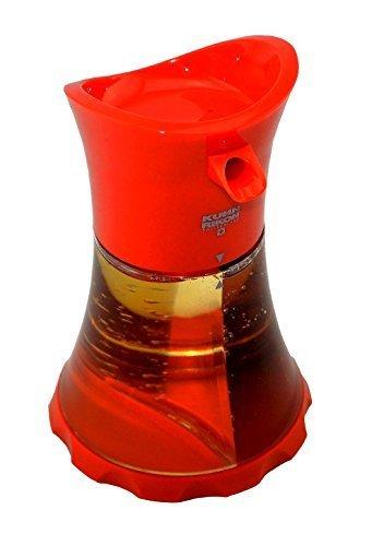 Kuhn Rikon Öl/Essig Spender Rot, einfache und stylische Aufbewahrung! mit zwei getrennten Bereichen individuell befüllbar!