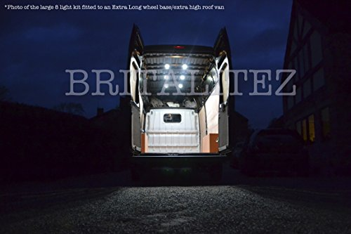Price comparison product image New Design! Britalitez® New LARGE LED Loading Lighting Kit for LWB Van - Sprinter - Ducato -Transit -Relay