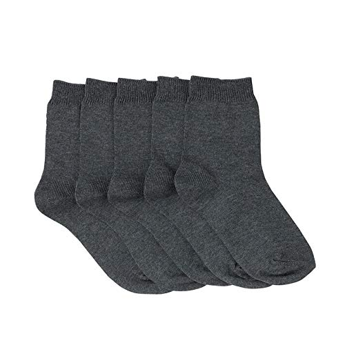 3er Pack Herren Plain Super Soft Bambus Mischung Socken Dünne leichte Sommersocken- Grau -