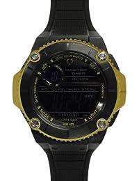 Wize & Ope  0 - Reloj de cuarzo unisex, con correa de poliuretano, color negro