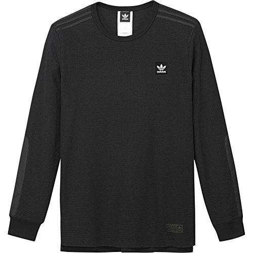 adidas Herren Thermal T-Shirt, Schwarz, M (Shirt Thermal Baumwolle-crew)