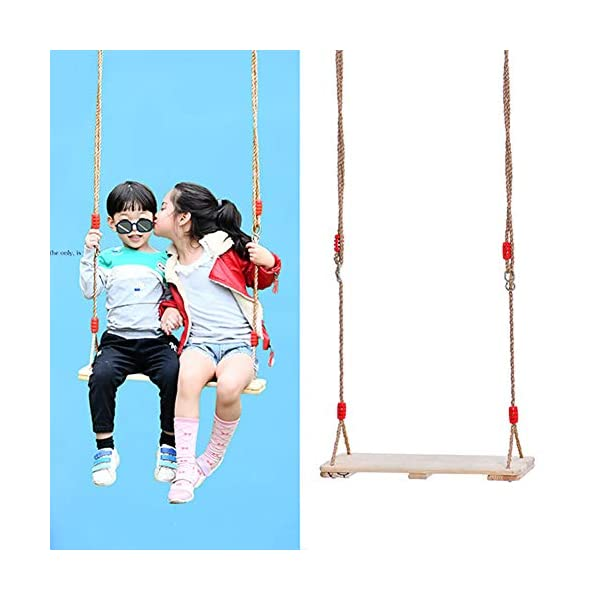 JTYX Wooden Swing Chair Kids Adult Outdoor Leisure Hanging Chairs Hammock Children Entertainment Equipment JTYX Strong carrying capacity: sturdy and durable, bearing capacity up to 150kg, ensuring stable swing Rugged: durable, resistant to high temperatures and fading, ensuring safe use Versatility: With these hammocks, you can inspire your child's ability to balance and promote balance while bringing happiness and total relaxation 2