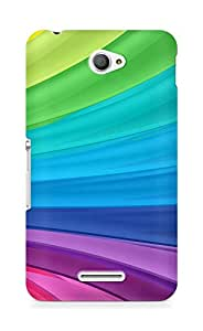 Amez designer printed 3d premium high quality back case cover for Sony Xperia E4 (Rainbow Swirl)