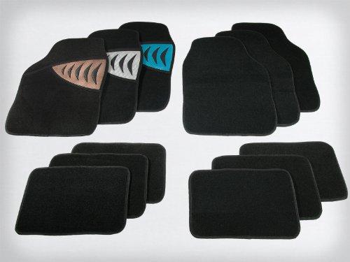 Preisvergleich Produktbild SKY Universal Autofußmatten Set Silverstone - 4 teilig - Farbe wählbar