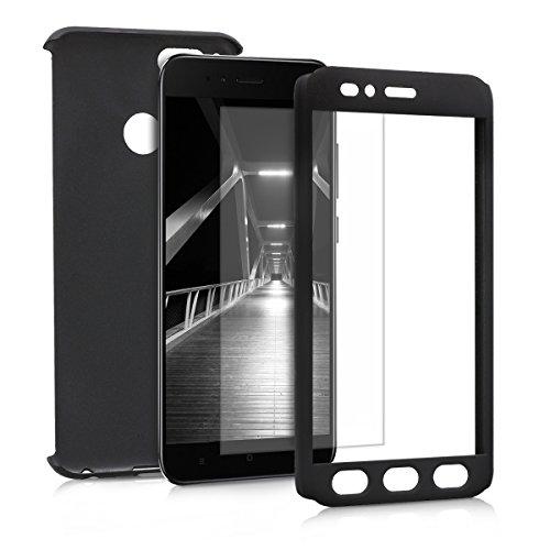 kwmobile Funda para Xiaomi Mi 5X / Mi A1 - Carcasa Protectora Completa con Cristal Templado - Cover con Protector de Pantalla Duro