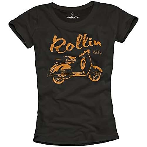 dia del orgullo friki Camisetas Ciclomotor Mujer - Rollin 60s