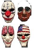 alle 4 komplettes Set von Payday Stil Kunststoff Masken