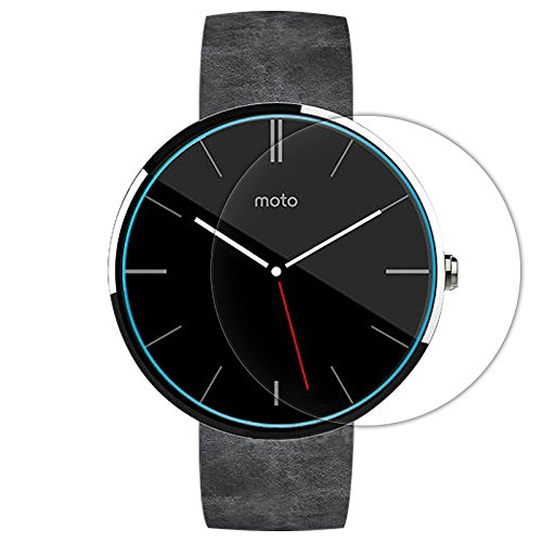 For Moto 360 Smart Watch 46 mm :CASSIEY Amazing H+ PRO+ 0.3 mm 2.5D 9H Hardness Anti-Explosion Tempered Glass Samrt Watch Screen Protector For Moto 360 Smart Watch 46 mm- Retail Packaging - Transparent With all Finger Print Sensor , Light Sensor , Camera Cutting and Installation Kit with Advanced Dust Remover  available at amazon for Rs.199