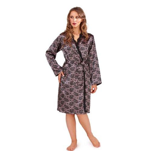 WOMENS SATIN NIGHTWARE BATHROBE ROBES DRESSING GOWN KIMONO GIRLS LADIES SIZE SMALL - LARGE