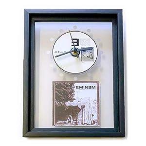 EMINEM – The Marshall Mathers LP: GERAHMTE CD-WANDUHR/Exklusives Design